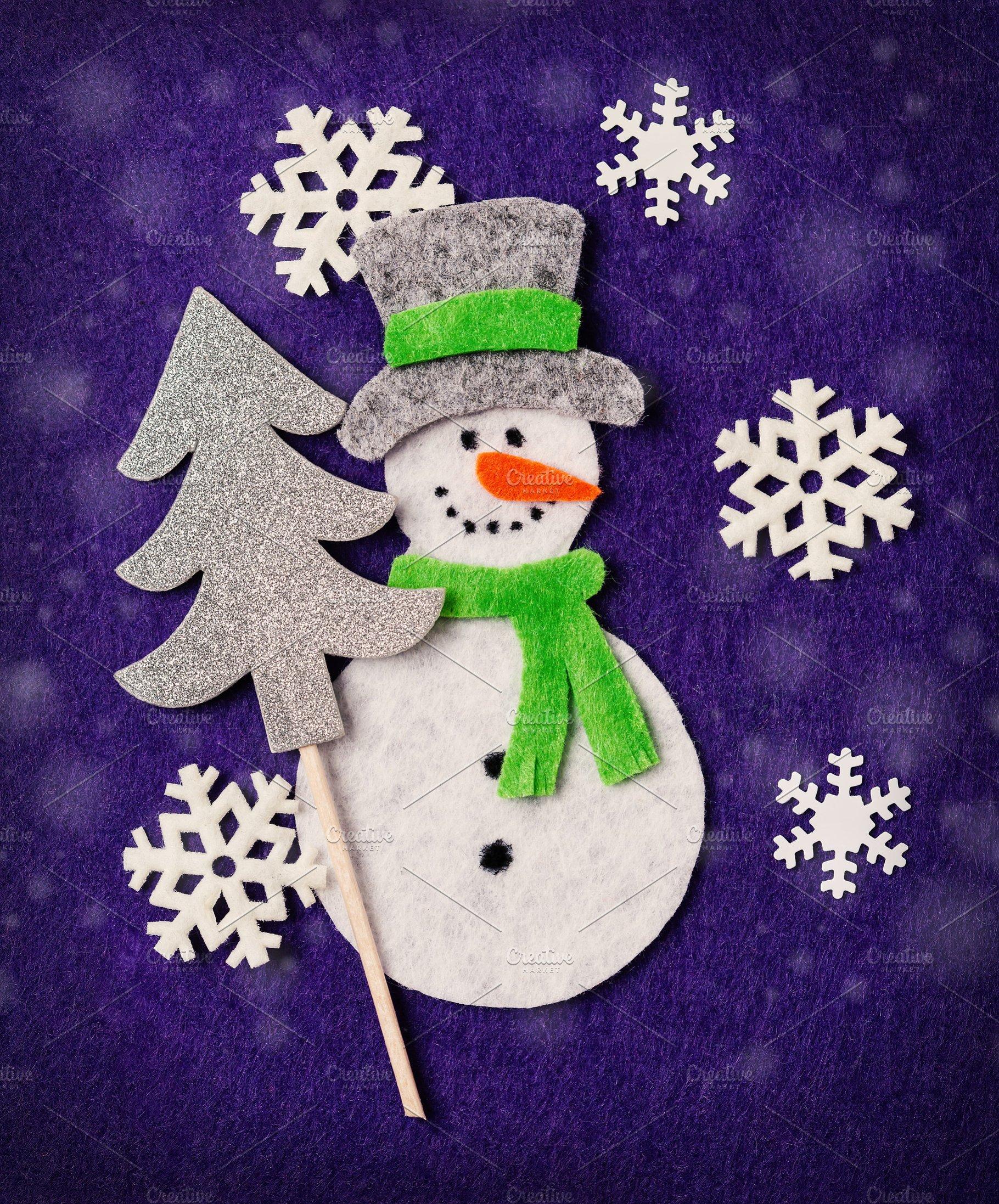 Felt Christmas Card Diy Idea Holiday Photos Creative Market