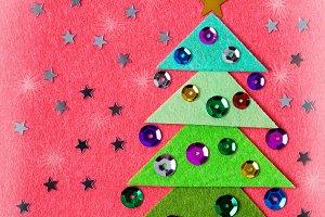 Felt Christmas card, DIY idea