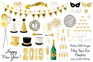 New Year's Eve 2019 Graphics