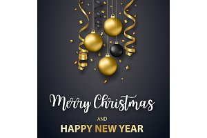 Poster Merry Christmas holiday.
