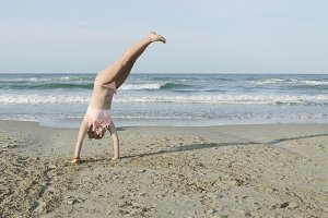 Cartwheel on the beach
