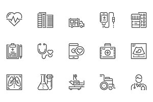 Medical Service Line Icons