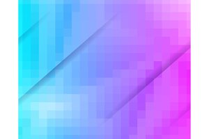 Purple Blue Grid Mosaic