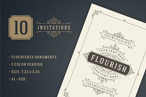 10 Vintage invitations volume 6