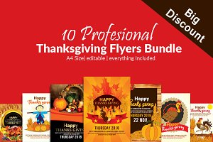 Thanksgiving 10 Flyers Bundle