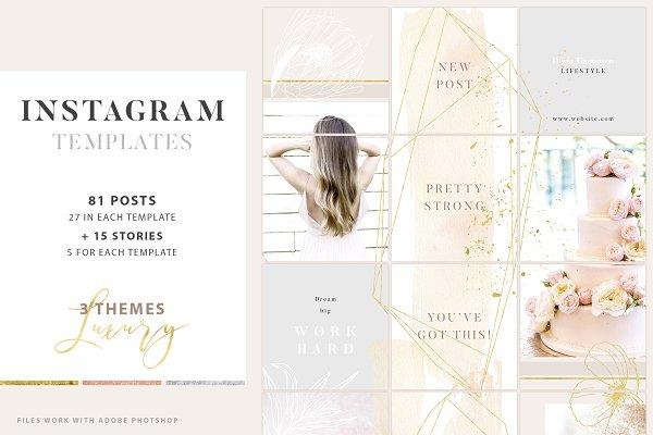 Luxury Instagram Posts and Stories