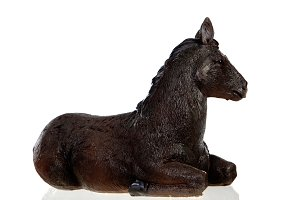 Figure of a mule for the Nativity Po