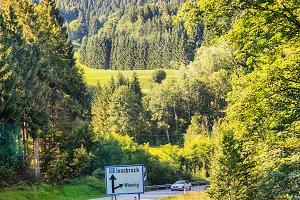 Austria road between mountains