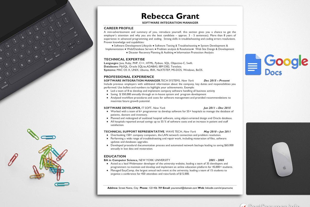Clean CV Resume Cover Letter