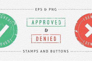 Approved and Denied Stamps