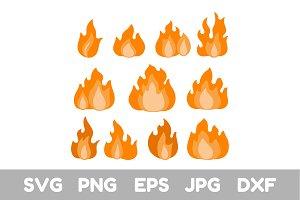 Fire, Flame, Svg