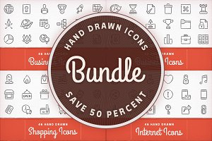 Hand Drawn Icons Bundle