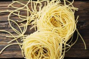 Raw italian vermicelli