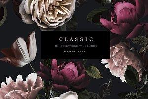 Romantic Clip Art Set - Classic