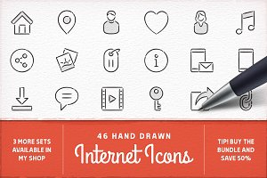 Hand Drawn Internet Icons