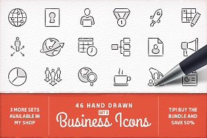Hand Drawn Business Icons - Set 2