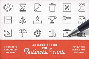 Hand Drawn Business Icons - Set 1
