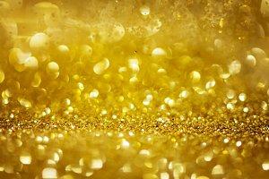 Golden glitter texture abstract