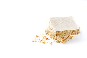 Typical Christmas almond nougat