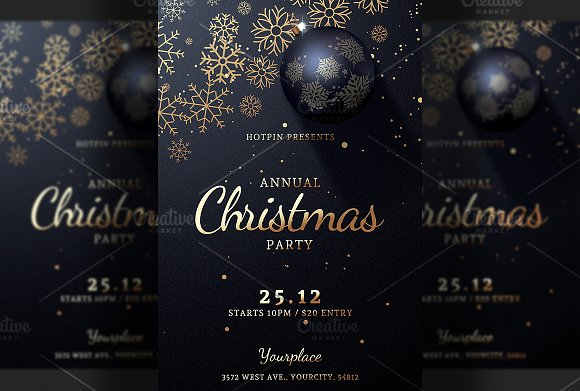 christmas party flyer invitation invitation templates creative