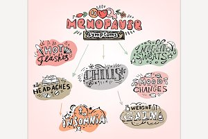 Menopause Symptoms Doodles