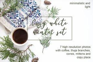 Cozy white winter set