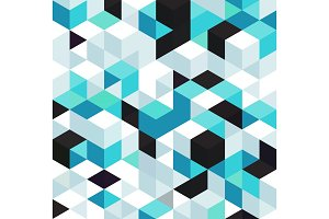 Abstract background with color cubes