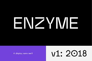 Enzyme – Display typeface font