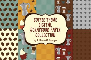 Coffee Theme Scrapbook Collection