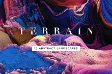 Terrain: Abstract 3D Landscapes by  in Textures