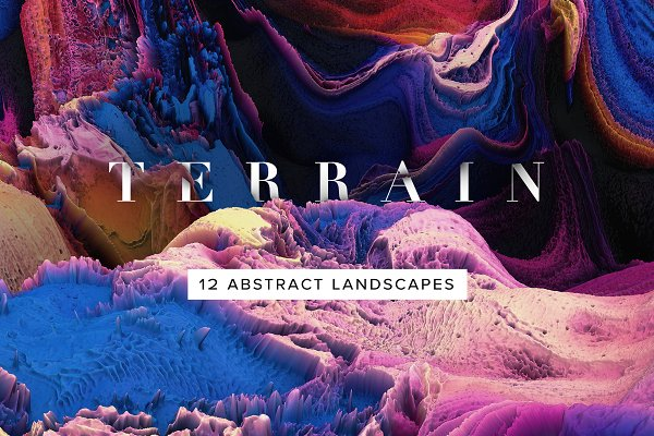 Textures: Chroma Supply - Terrain: Abstract 3D Landscapes