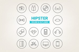 Circle hipster icons