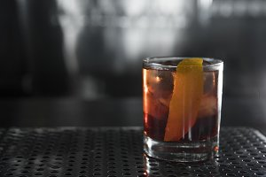 Classic cocktail Negroni with gin