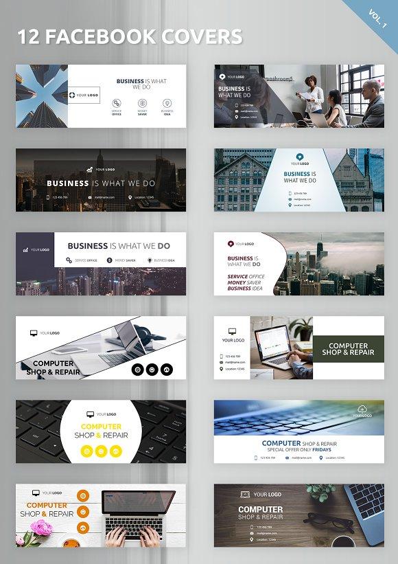 12 facebook covers facebook templates creative market