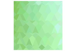 Absinthe Green Abstract Low Polygon
