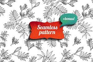 Seamless floral pattern + bonus