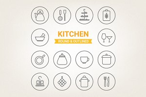Circle kitchen icons