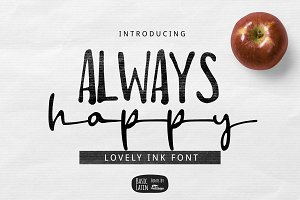 Always Happy Ink Font