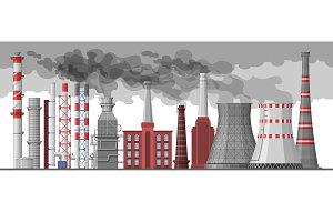 Industry factory vector industrial