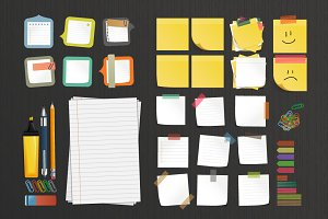 40 x Stationery elements