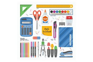 Office supply vector stationery