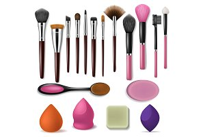 Makeup brush vector professional