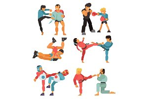Martial art vector people character
