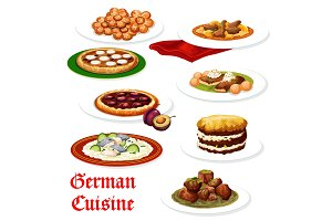 German cuisine meat and fish dishes