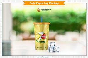 Soda Paper Cup Mockup