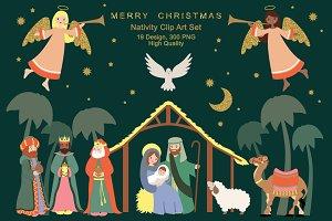 Nativity Religious Christmas Clipart