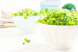 Mixed baby greens salad banner