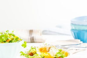 Mixed baby greens and egg salad