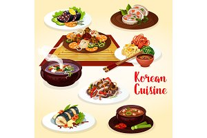 Korean cuisine meat and fish dishes