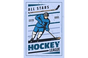 Ice hockey sport game player